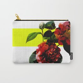 Vintage Blooms /Neon Block Carry-All Pouch