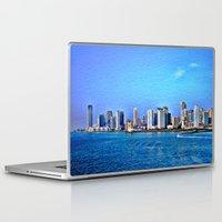 new york skyline Laptop & iPad Skins featuring New York  Skyline   by Judy Palkimas
