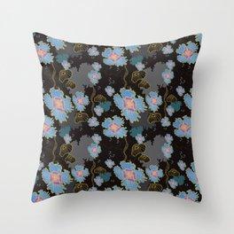 Dreamy Undersea Flowers Throw Pillow
