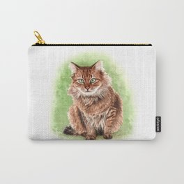 Somali cat portrait Carry-All Pouch