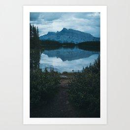 Two Jack Lake Art Print
