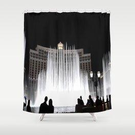 Nighttime at the Belagio Fountain, Las Vegas, Nevada Shower Curtain