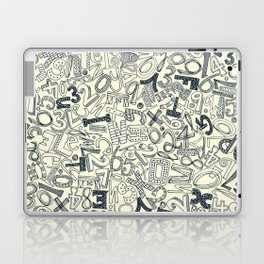 A1B2C3 indigo ivory Laptop & iPad Skin