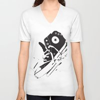 converse V-neck T-shirts featuring CONVERSE by PixelRiff