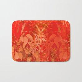 Beautiful red foliages - illustration of garden Bath Mat