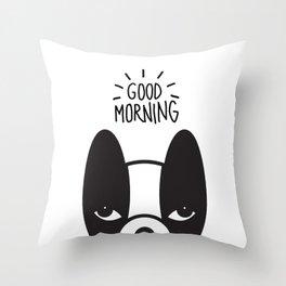 Good morning Coco Throw Pillow
