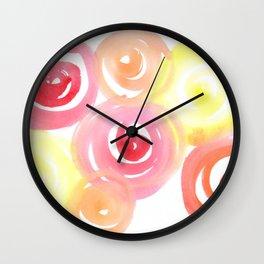 Pink and Peachy Wall Clock
