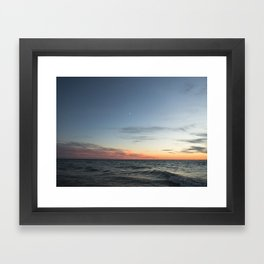 Lake Michigan Sunset Framed Art Print