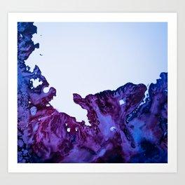Falling Circumstance - Blue Art Print