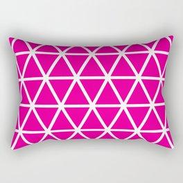 Pink Triangle Pattern 3 Rectangular Pillow