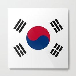 South Korea Flag Metal Print