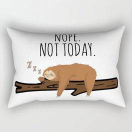 Nope. Not Today! Funny Sleeping Sloth On A Branch Gift Rectangular Pillow