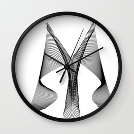 """""""Linear Collection"""" - Minimal Letter M Print Wall Clock"""