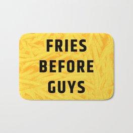 Fries Before Guys (Subtle Halftone) Bath Mat