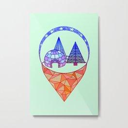icetown Metal Print