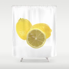 Fresh lemon Throw Shower Curtain