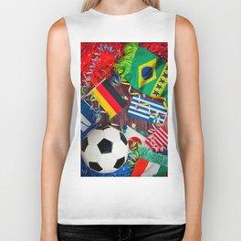 International Soccer Collage With Fan Items Biker Tank