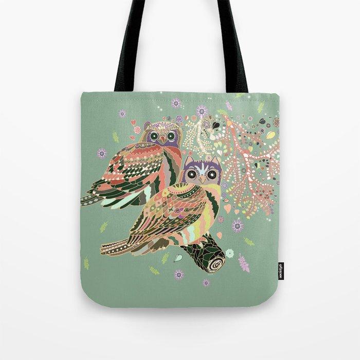 twin owls Tote Bag