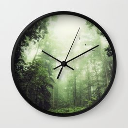 German Jungle - Forest in Morning Mist Wall Clock