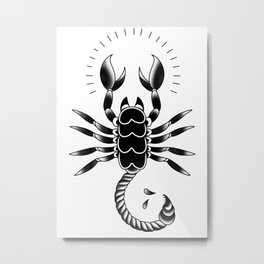 Trad Scorpion Metal Print