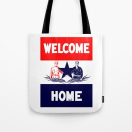 Vintage Military Welcome Home Tote Bag