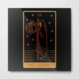 Tarot Card Shirts For Women Occult The Hermit Metal Print