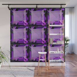 EMERALD CUT PURPLE FEBRUARY AMETHYST GEMS Wall Mural