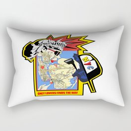 Only Lovers Finds The Way  -  NYC map Rectangular Pillow