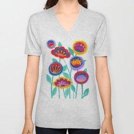 raw flower garden Unisex V-Neck