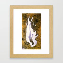 """""""Fall of the White Buffalo"""" Framed Art Print"""