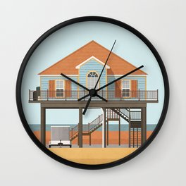 Beach house 1 Wall Clock