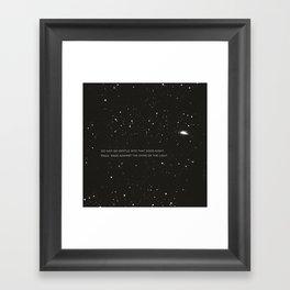 Do not go gentle into that good night.... Framed Art Print