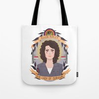 ripley Tote Bags featuring Ellen Ripley by heymonster