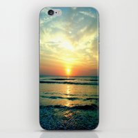 sunrise iPhone & iPod Skins featuring Sunrise by THEORY