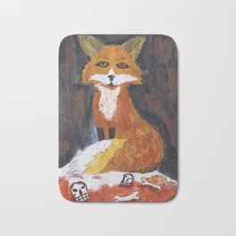 dark fox Bath Mat