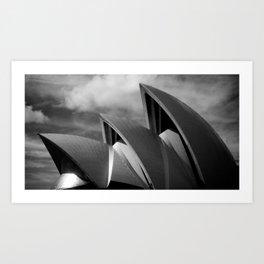 Sydney Opera House BW Art Print