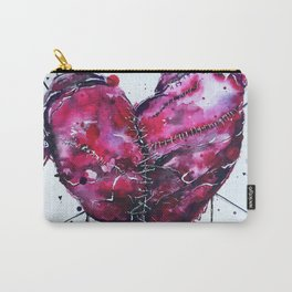 Fused Hearts Carry-All Pouch