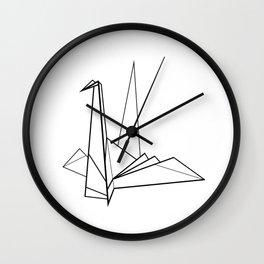 Origami Paper Bird Wall Clock