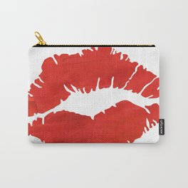fire engine red lips Carry-All Pouch
