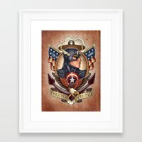 forever young Framed Art Prints featuring FOREVER YOUNG by Tim Shumate
