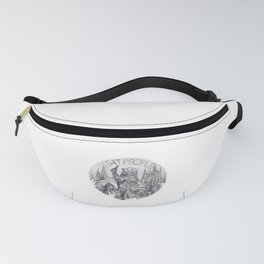 Camping I Eat People Vintage Fanny Pack