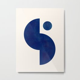 Modern Minimal Abstract Blue #6 Metal Print
