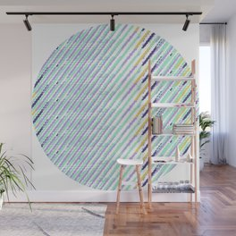 Green Drops of Time Wall Mural