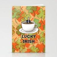 irish Stationery Cards featuring Irish Luck by girlwiththetea