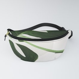 Monsterra Green Plant Leaves Photography Fanny Pack