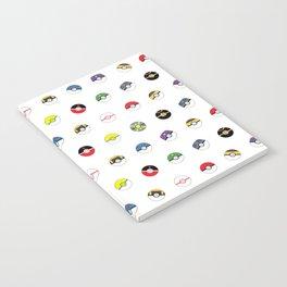 Cute Pokeball Pattern Notebook