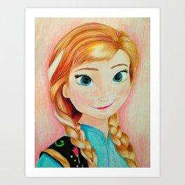Anna from Frozen Art Print
