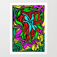 supreme Art Prints featuring Lava Supreme by clawsalina