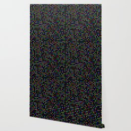Big Hirst Polka Dot Black Wallpaper