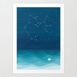 Sagittarius zodiac constellation Art Print